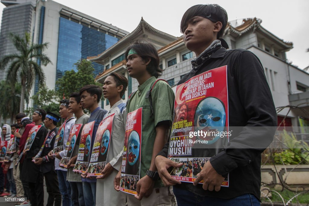 Indonesian Muslims Rally To Support Uyghur Ethnic : Nieuwsfoto's