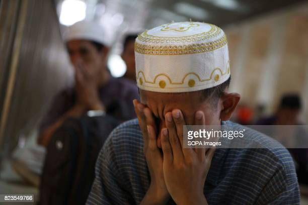 Indonesian muslim perform Friday prayer during the first week of Ramadan in istiqlal Mosque