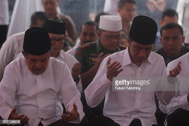 Indonesian Muslims at Monument Park to protests against the Christian Jakarta Governor Basuki Tjahaja Purnama better known as Ahok on December 2 2016...