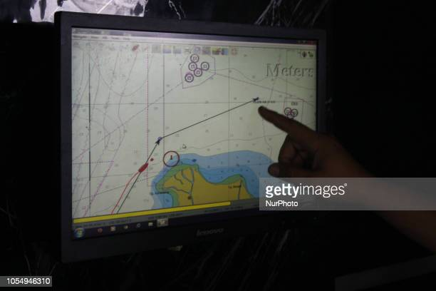 Indonesian Navy conduct SAR opperation for Lion Air JT610 airplane which crash to the sea on the Karwang Bay West Java after 13 minutes flight from...