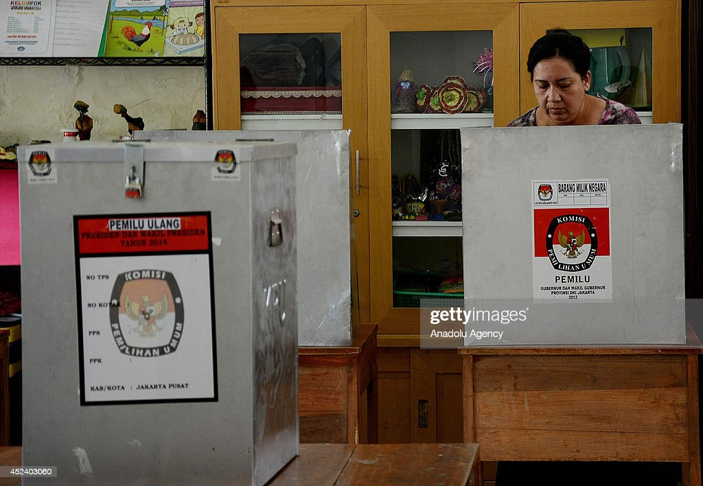 Re-voting of Indonesian Presidential Election : News Photo