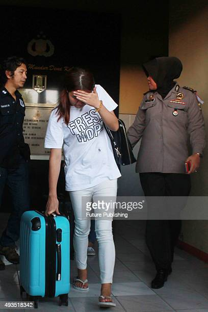 Indonesian Police arrested Chinese citizen who committed international online fraud cases on October 20 2015 in Surabaya East Java Province Indonesia...