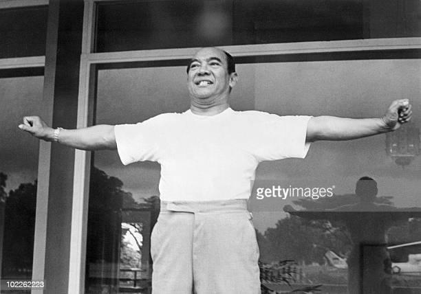 Indonesian President Achmed Sukarno relaxes in his Bogor Palace in February 1965 Sukarno was Indonesia's first president when Indonesia was granted...