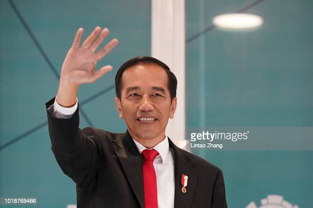 Indonesian President Joko Widodo attend the opening ceremony of the Asian Games on August 18 2018 in Jakarta Indonesia