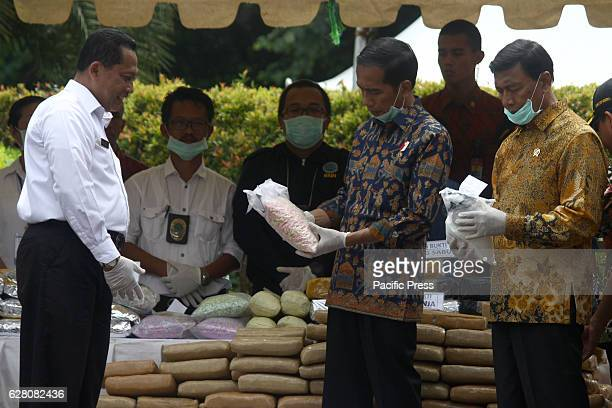 Indonesian President Mr Joko Widodo along with Head of Indonesian National Narcotics Board Mr Budi Waseso and Coordinating Minister of Political Law...
