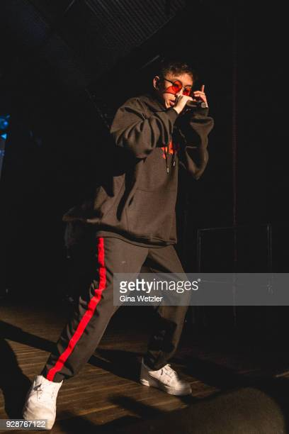 Indonesian rapper Brian Imanuel aka Rich Brian formerly Rich Chigga performs live on stage during a concert at the Festsaal Kreuzberg on March 07...