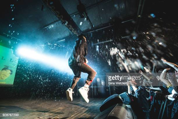 Indonesian rapper Brian Imanuel aka Rich Brian formerly Rich Chigga performs live on stage during a concert at the Festsaal Kreuzberg on March 07,...