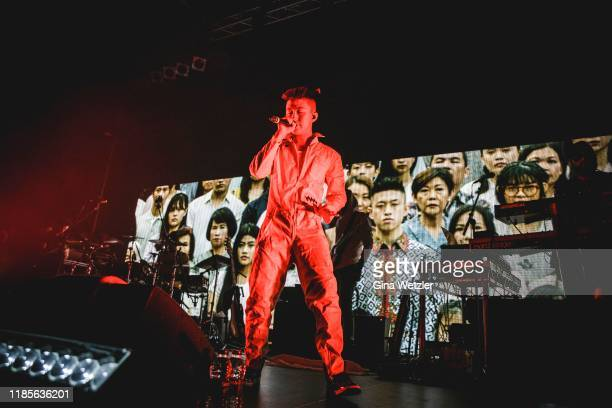 Indonesian rapper Rich Brian performs live on stage during a concert at Huxleys Neue Welt on November 30 2019 in Berlin Germany