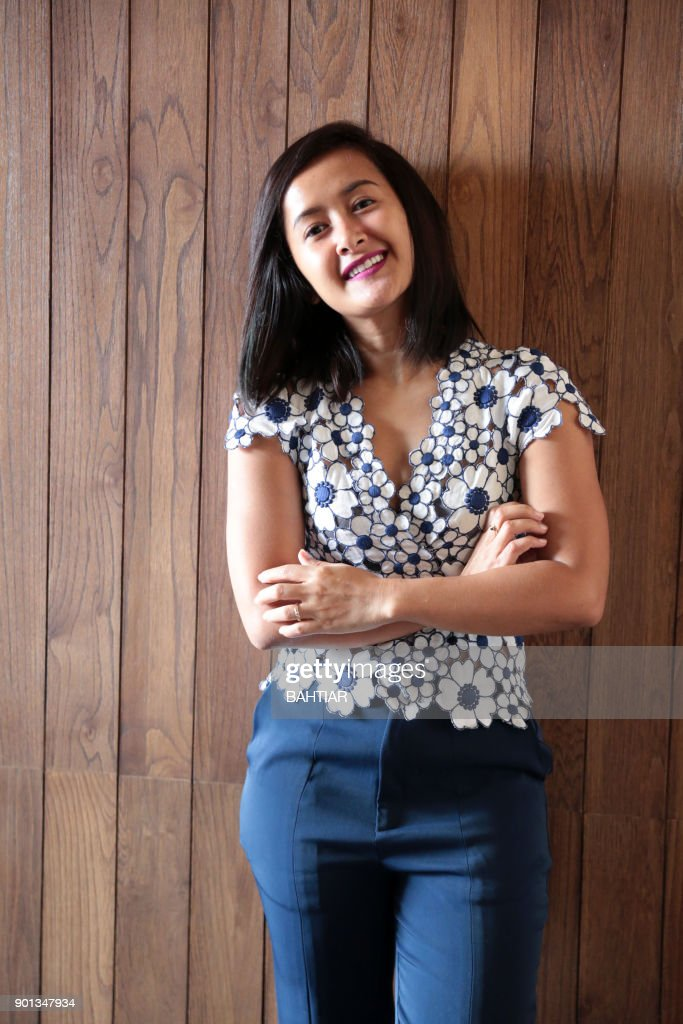 Indonesian Singer Widi Mulia Poses For A Photo Shoot In Jakarta On January