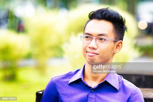 Indonesian student bewildered at what he is witnessing