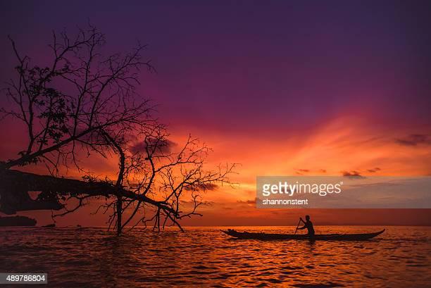 Indonésienne coucher du soleil