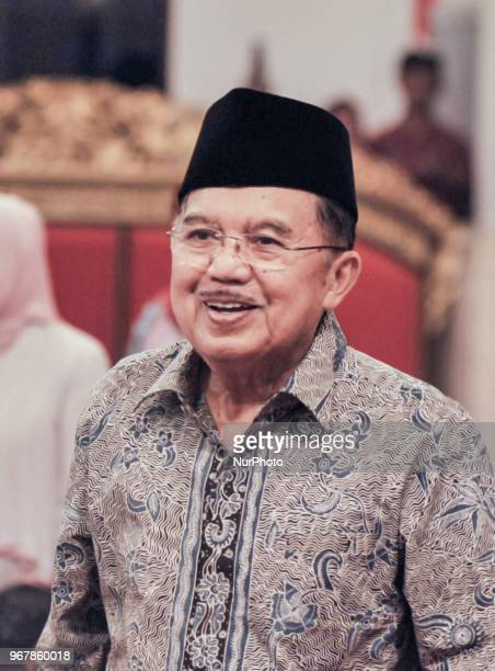 Indonesian Vice President Jusuf Kalla during Nuzulul Quran event at Presidential Merdeka Palace in Jakarta, Indonesia on June 5, 2018.