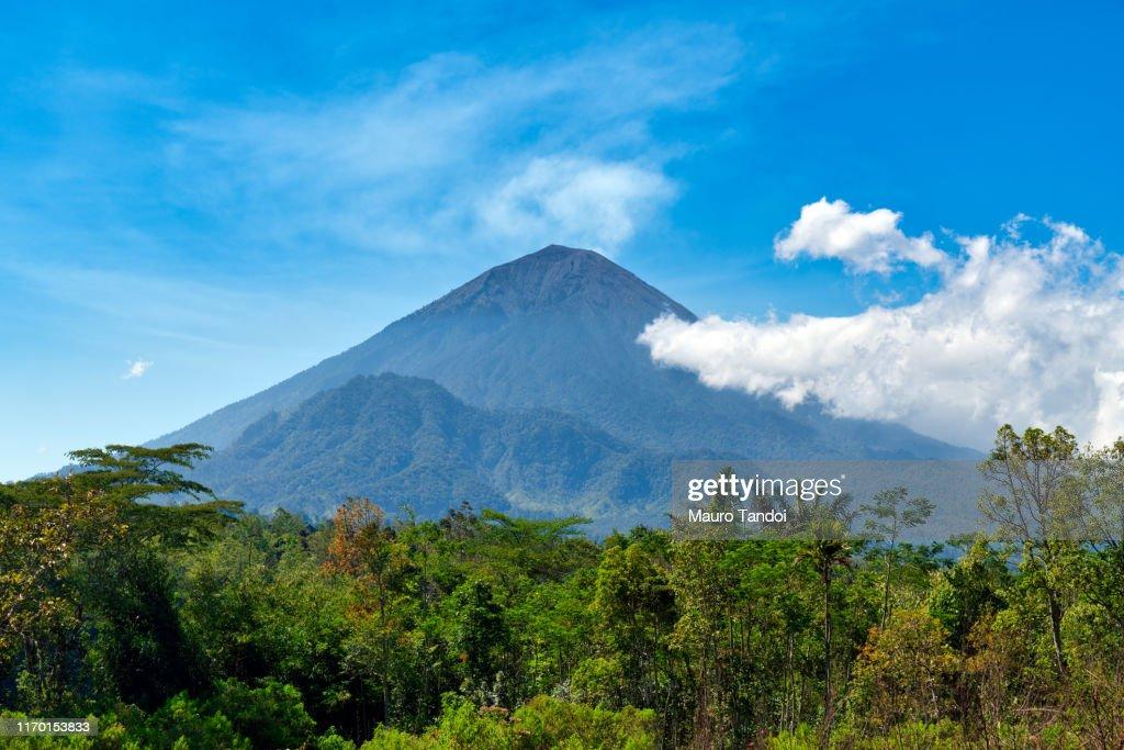 Indonesian volcano Agung : Stock Photo