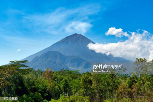 indonesian volcano agung - mauro tandoi stock pictures, royalty-free photos & images