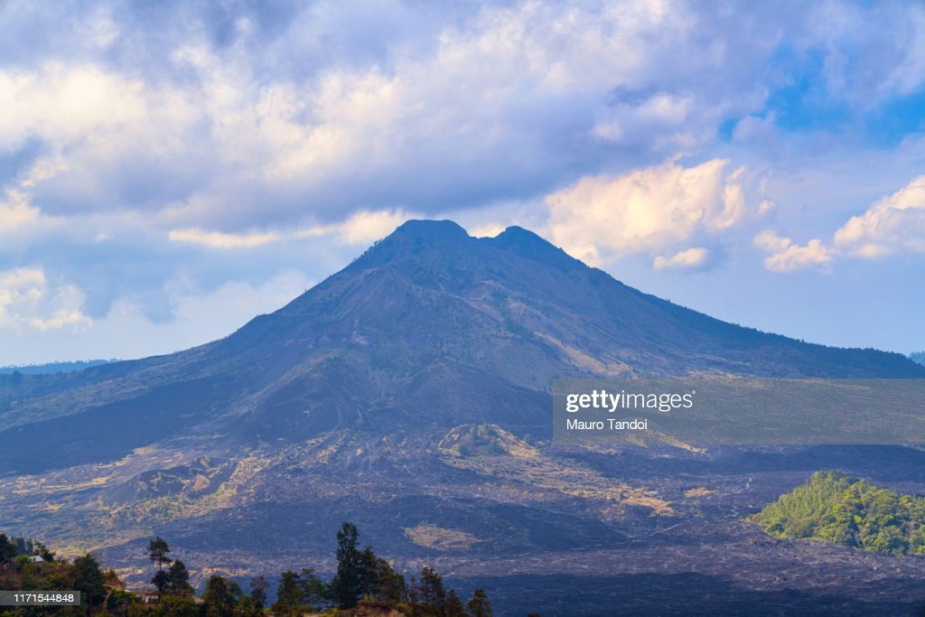 Indonesian volcano Batur : Stock Photo