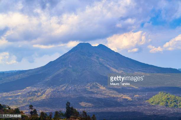 indonesian volcano batur - mauro tandoi stock pictures, royalty-free photos & images