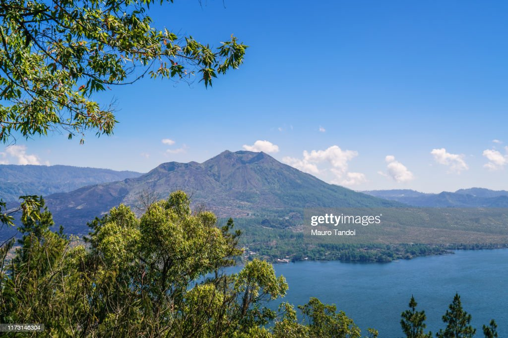 Indonesian volcano Batur : Stock Photo