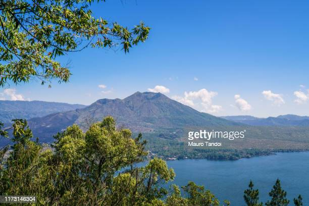 indonesian volcano batur - mauro tandoi stock photos and pictures