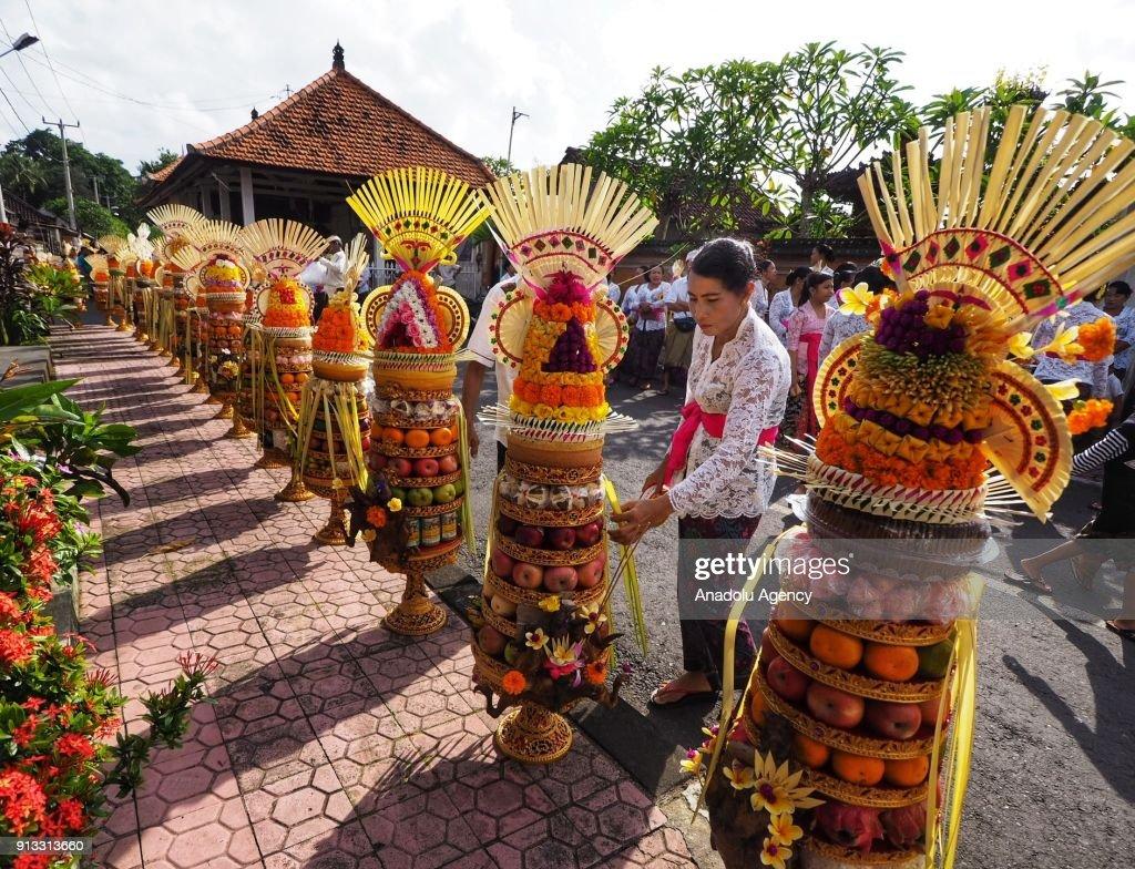 Odalan ceremony in Bali : News Photo