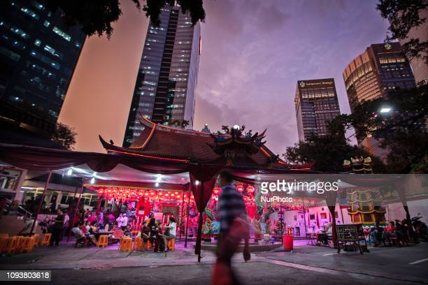 Indonesians of Chinese walk to the Chinese temple in Jakarta Indonesia on Monday afternoon February 4 2019 The 2019 Lunar New Year fell on February 5...
