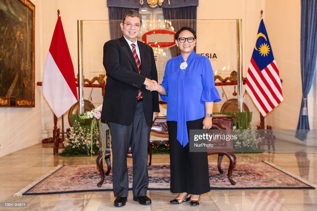 Malaysian Foreign Minister Saifuddin Abdullah In Indonesia