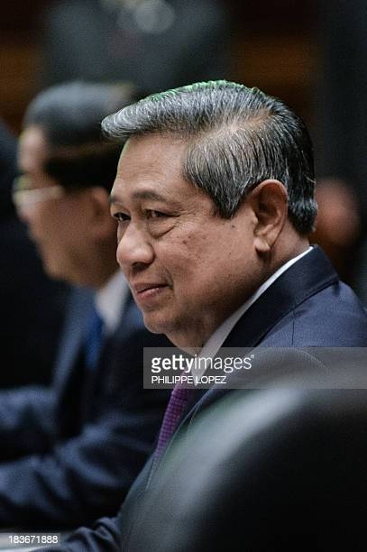 Indonesia's President Susilo Bambang Yudhoyon at the 23rd summit of the Association of Southeast Asian Nations in Bandar Seri Begawan on October 9...