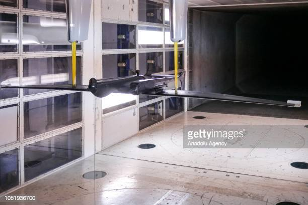 IndonesiaTurkey Unmanned Aerial Vehicle is put to a wind tunnel test at the Center for Aerodynamic Technology Aeroelastic and Aeroacoustic in...