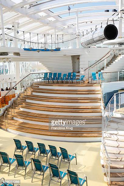 Indoor overview at the AIDAprima Cruise Ship Baptism on May 7 2016 in Hamburg Germany