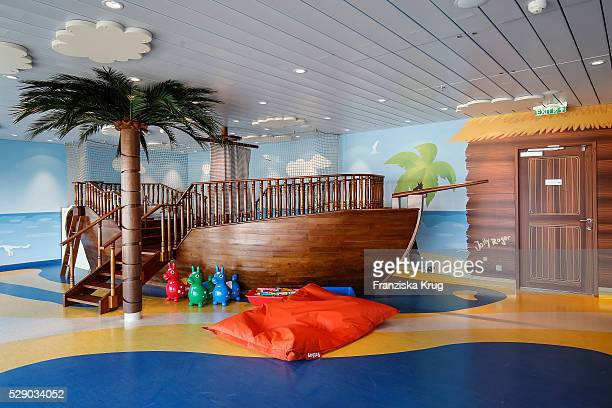 Indoor playground at the AIDAprima Cruise Ship Baptism on May 7 2016 in Hamburg Germany