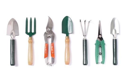 Indoor set of gardening tools isolated 948654426
