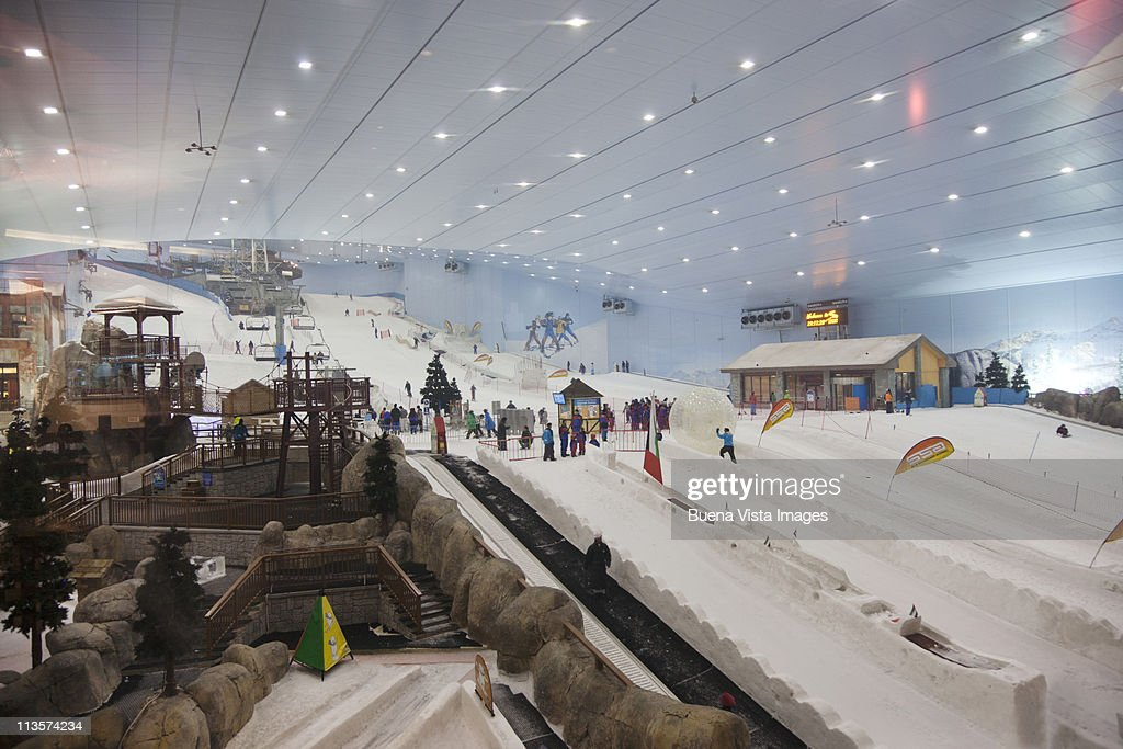 Indoor Ski Slope At Dubais Mall Of Emirates Stock Photo