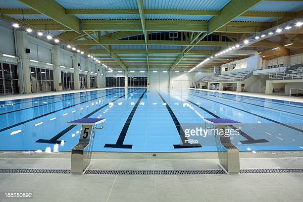 indoor swimming pool - standing water stock pictures, royalty-free photos & images