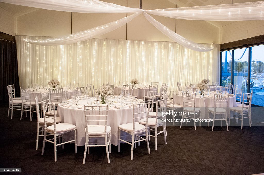 Indoor Wedding Reception Venue Stock Photo Getty Images