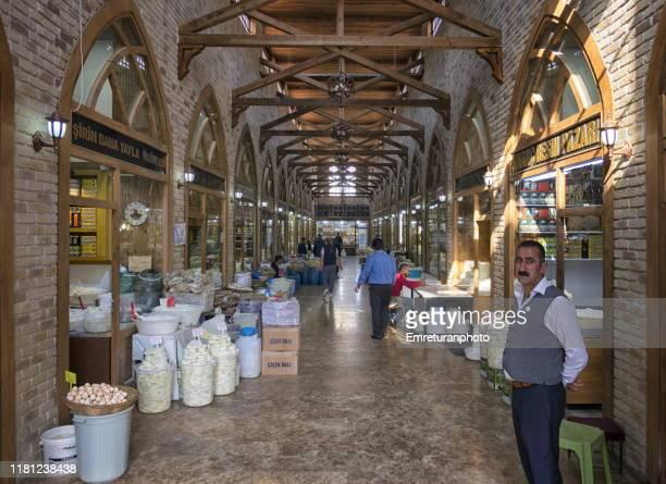 indoors cheese market in van city center. - emreturanphoto ストックフォトと画像