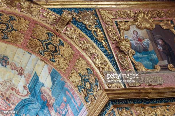 indoors details of st mary of angels church in penedo city, alagoas state, brazil - barock stock-fotos und bilder