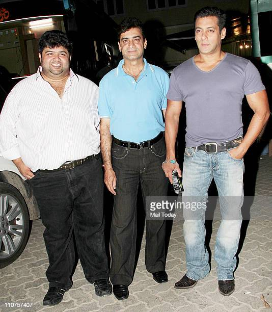 Indra Kumar and Salman Khan Spotted at Mehboob Studio in Mumbai