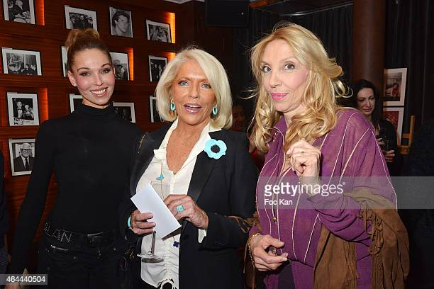 Indra Martine de Leseuleuc de Kerouava and Sylvie Elias attend the Massimo Gargia Private photo exhibition dinner party at Le Cosy on February 25...