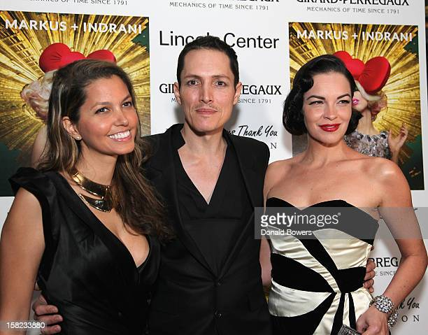 Indrani GK Reid and Tammy Blanchard attend Markus Indrani's ICONS Launch Event and VIP Gala at Alice Tully Hall Lincoln Center on December 11 2012 in...