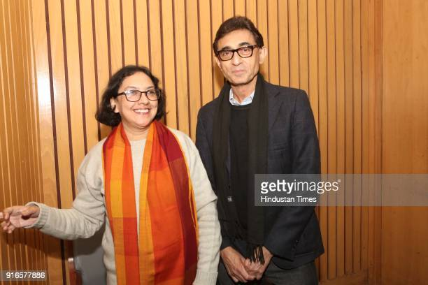 Indrani Majumdar and Sunit Tandon during a launch of scholar Kavita A Sharma's book 'Life is As is Teachings from the Mahabharata' coauthored by Indu...
