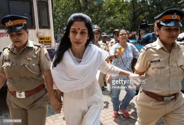 Indrani Mukerjea accused in the Sheena Bora murder case at Bandra family court to file for divorce on September 17 2018 in Mumbai India Three years...