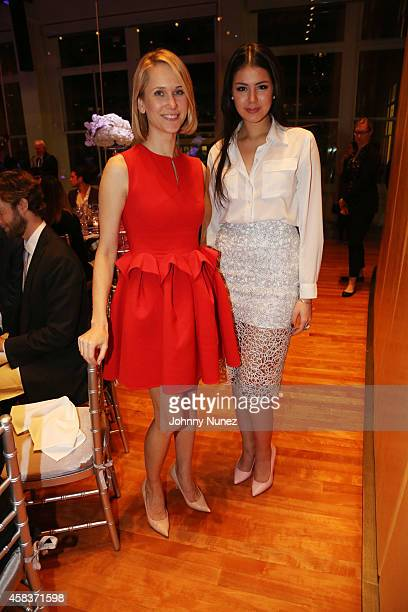 Indre Rockefeller and Claudia Torres attend the Luz de Luna Piano Violin and Dance Concert at Carnegie Hall on November 3 in New York City
