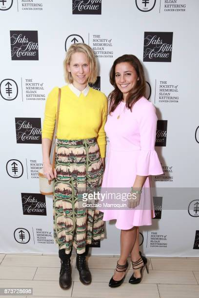 Indre Rockefeller and Shoshanna Gruss during the Saks Fifth Avenue and The Society of Memorial Sloan Kettering Luncheon on November 13 2017 in New...