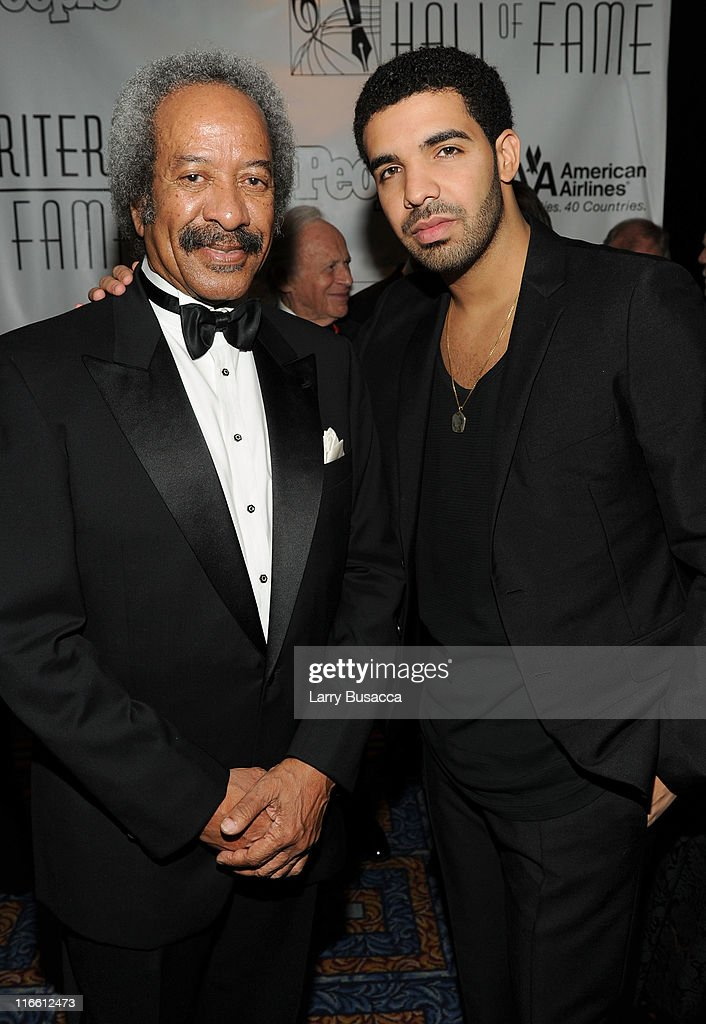 Inductee Allen Toussaint and Drake attend the Songwriters Hall of Fame 42nd Annual Induction and Awards at The New York Marriott Marquis Hotel - Shubert Alley on June 16, 2011 in New York City.