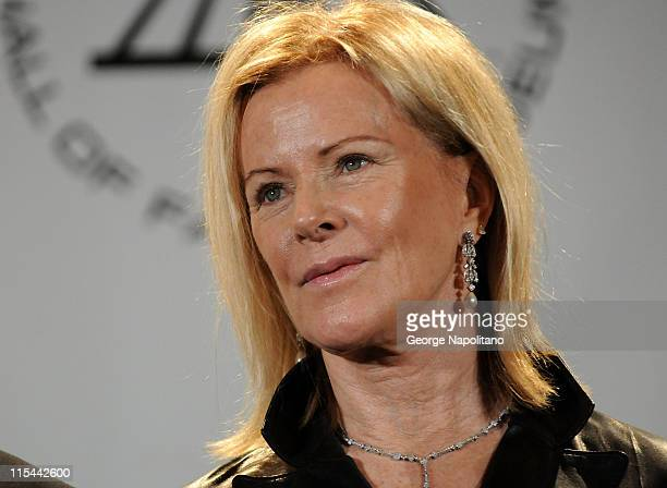 Inductee AnniFrid Prinsessan Reuss of ABBA attends the 25th Annual Rock And Roll Hall Of Fame Induction Ceremony at the Waldorf=Astoria on March 15...