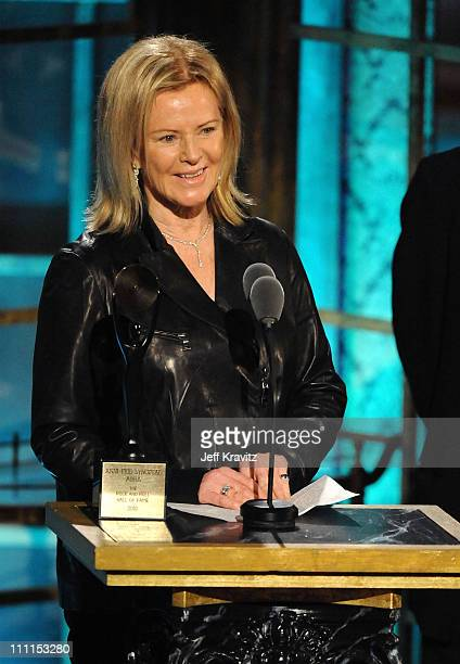 Inductee AnniFrid Prinsessan Reuss of ABBA speaks onstage at the 25th Annual Rock and Roll Hall of Fame Induction Ceremony at the Waldorf=Astoria on...