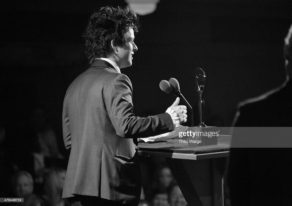 Inductee Billie Joe Armstrong of Green Day speaks onstage during the 30th Annual Rock And Roll Hall Of Fame Induction Ceremony at Public Hall on April 18, 2015 in Cleveland, Ohio.