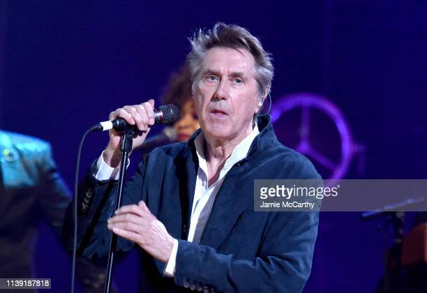 Inductee Bryan Ferry of Roxy Music performs onstage at the 2019 Rock Roll Hall Of Fame Induction Ceremony Show at Barclays Center on March 29 2019 in...