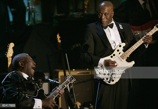 Inductee Buddy Guy performs with BB King during the Annual Rock and Roll Hall of Fame Induction Ceremony in New York 14 March 2005. The Rock and Roll...