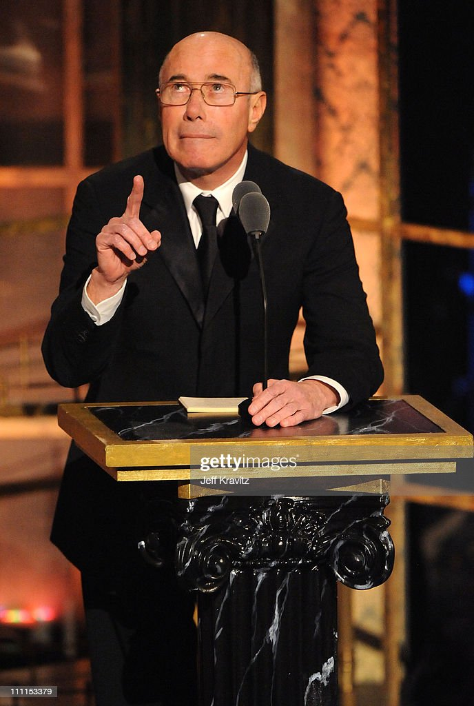 Inductee David Geffen speaks onstage at the 25th Annual Rock and Roll Hall of Fame Induction Ceremony at the Waldorf=Astoria on March 15, 2010 in New York City.