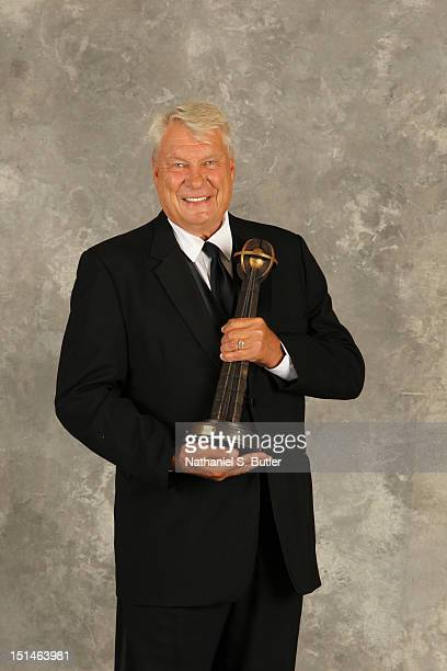 Inductee Don Nelson poses for a portrait prior to the 2012 Basketball Hall of Fame Enshrinement Ceremony on September 7 2012 at the Naismith Memorial...